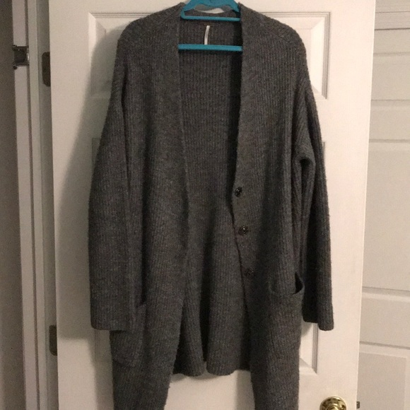 794adc3920fd85 Free People Sweaters - Free People Oversized Gray Sweater